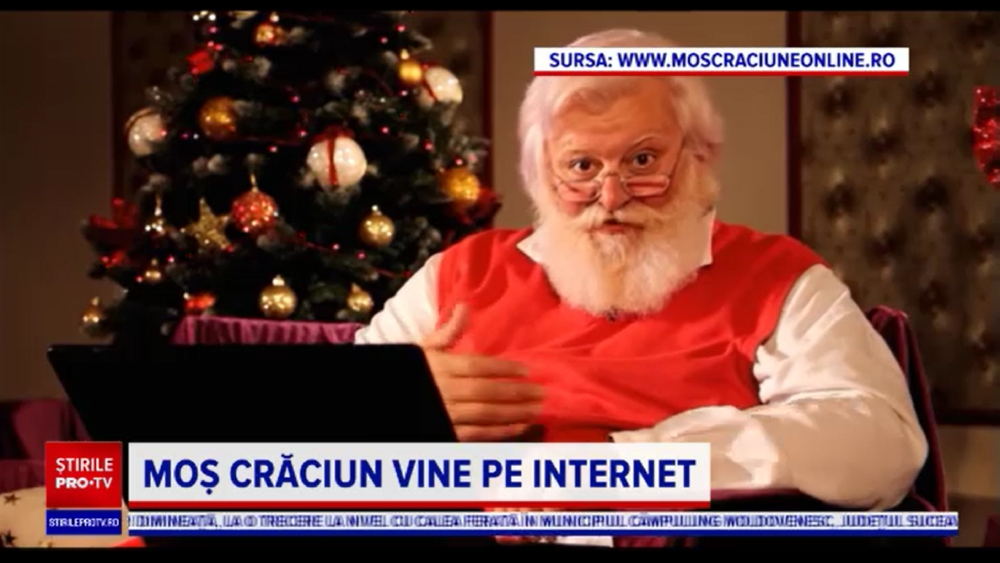 mos craciun online acum si la stirile protv